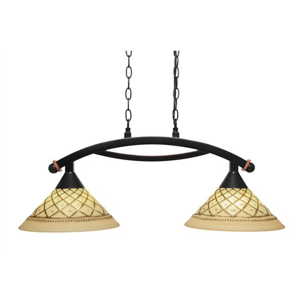 Blankenship 2-Light Kitchen Island Pendant by Fleur De Lis Living