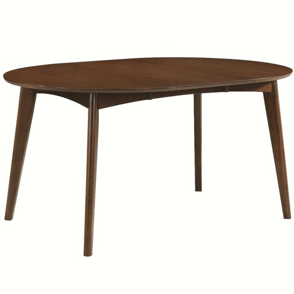 Amazing Dyer Avenue Mid-Century Modern Extendable Dining Table By George Oliver 2019 Sale