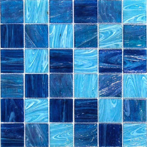 Aqua 2 x 2 Glass Mosaic Tile in Ocean Blue by Splashback Tile