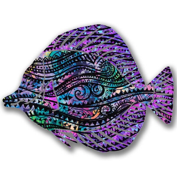 Steel Whimsy Angel Fish 3D Wall Decor by Bay Isle Home