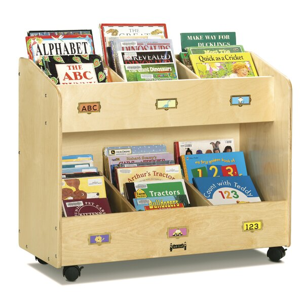 6 Compartment Book Display with Casters by Jonti-Craft