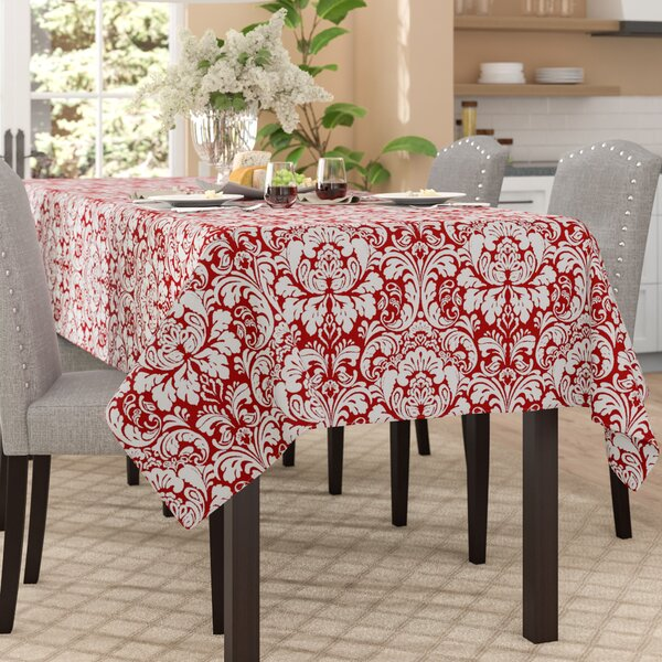 Greenbaum Damask Tablecloth by Three Posts