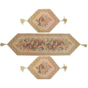 Wildflower Wonderland Tapestry 3 Piece Table Runner Set  sc 1 st  Wayfair & Dining Linen Set Table Linens You\u0027ll Love