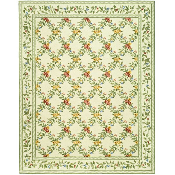 Kinchen Ivory English Trellis Rug by August Grove