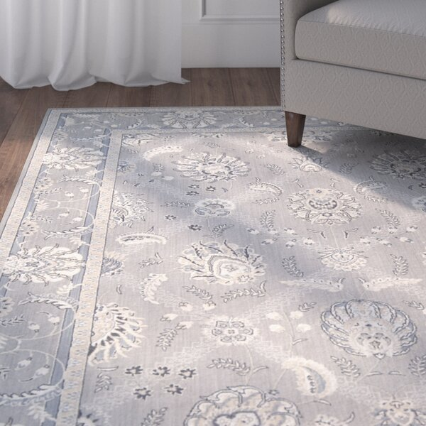Dowdell Gray Area Rug by Charlton Home