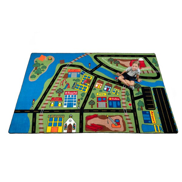 Total Transportation Play Town Area Rug by Kid Carpet