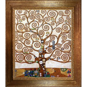Tree of Life by Gustav Klimt Framed Painting by Tori Home