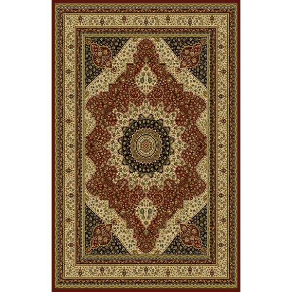 Sella Red/Green Area Rug by Astoria Grand