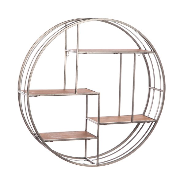 Noam Round Metal Wall Shelf by Gracie Oaks