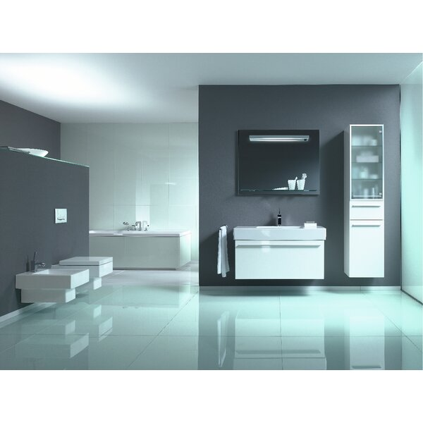 Vero Dual Flush Square Wall-Mount Toilet Bowl with Glazed Surface (Seat Not Included) by Duravit