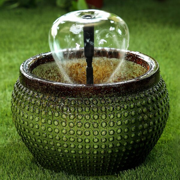 Resin Bowl with Nozzle Water Fountain by Jeco Inc.