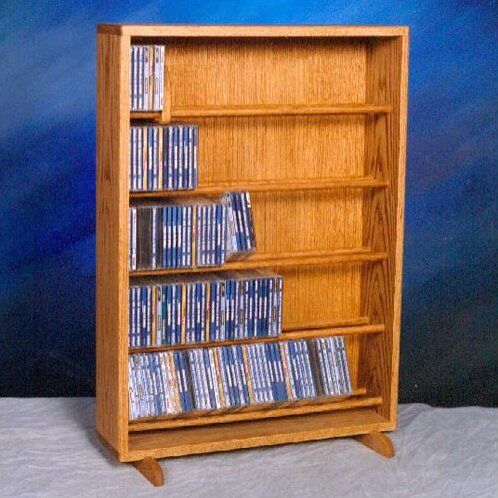 500 Series 275 CD Dowel Multimedia Storage Rack by Wood Shed