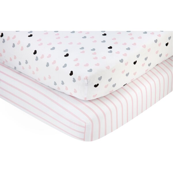 Hugs and Kisses Fitted Crib Sheets (Set of 2) by Little Love by Nojo