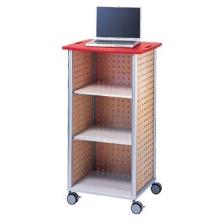 Wheelies® AV Cart with An Open Front and 2 Adjustable Shelves by Peter Pepper