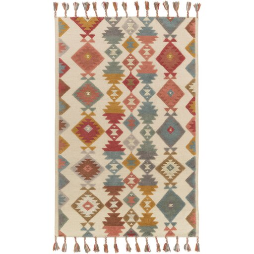 Sneed Hand-Woven Multi Color Area Rug by Loon Peak