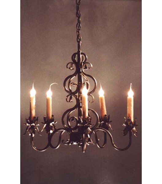 Graff 5 - Light Candle Style Tiered Chandelier By Fleur De Lis Living