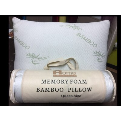 Bamboo Memory Foam Pillow At Home Size