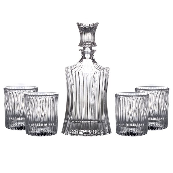 Augusta 5 Piece Drinkware Set by Fitz and Floyd