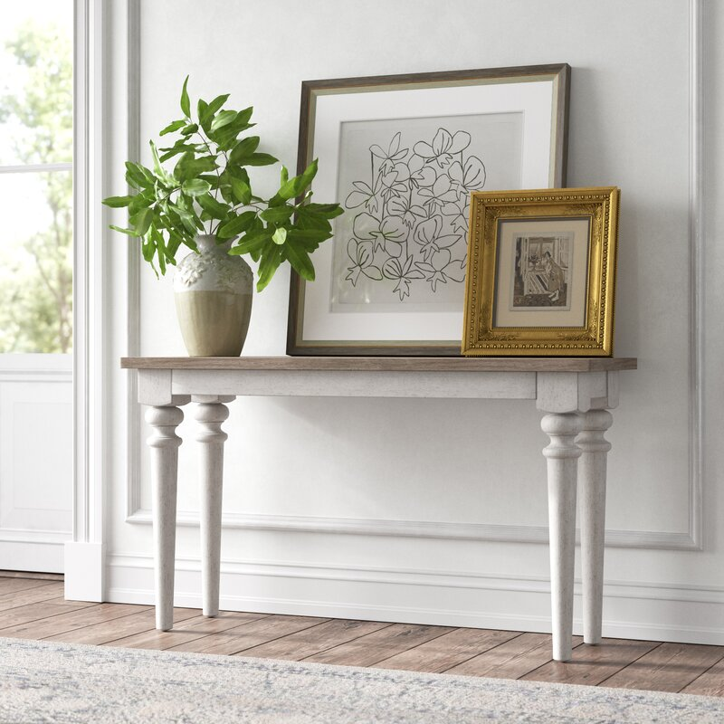 """Marion 52"""" Solid Wood Console Table - you're going to love these furniture and decor pieces Kelly curated for Wayfair! #furniture #frenchcountry #kellyclarksonhome #consoletables"""
