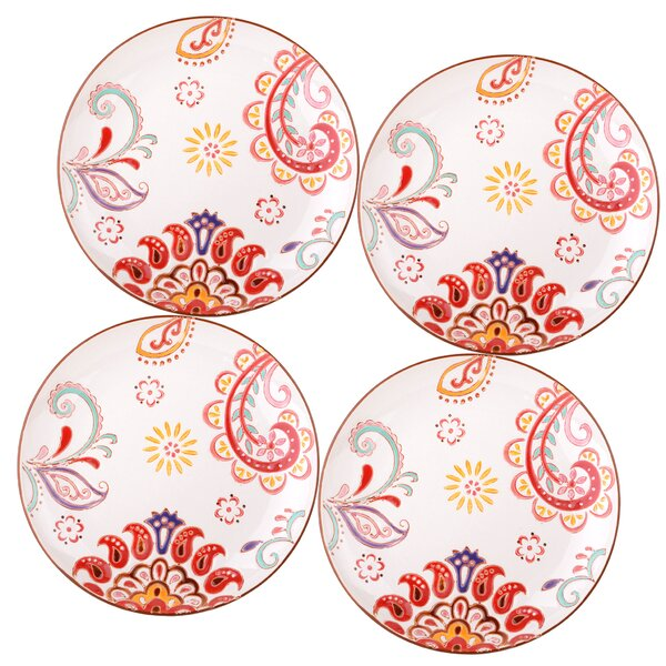 Ostlund 8 Salad Plate Set Paisley Floral Set (Set of 4) by Bungalow Rose