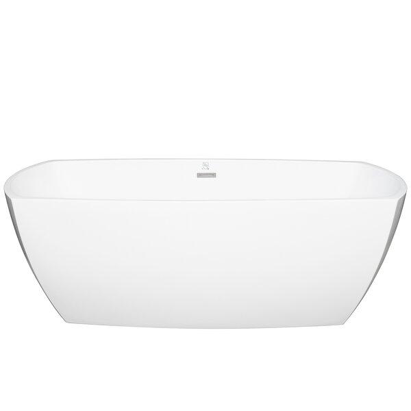 Acrylic Oval 69 x 29.5 Freestanding Soaking Bathtub by AKDY