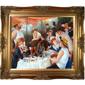 Luncheon of the Boating Party by Pierre-Auguste Renoir Framed Painting Print by La Pastiche