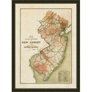 New Jersey Framed Graphic Art by Melissa Van Hise