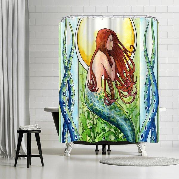 Sam Nagel Kelp Forest Mermaid Shower Curtain by East Urban Home
