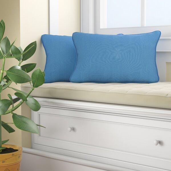 Melitta Indoor/Outdoor Lumbar Pillow (Set of 2) by Longshore Tides