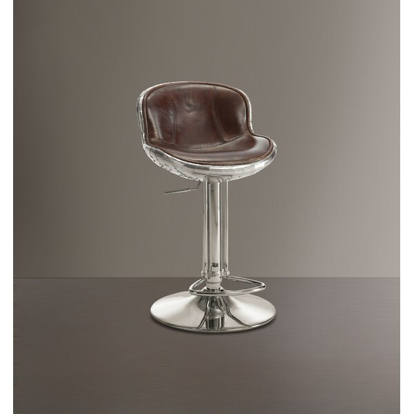 Margaux Adjustable Height Bar Swivel Stool by 17 Stories