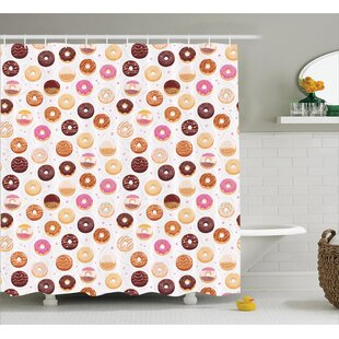 Alethia Colorful Yummy Donuts Shower Curtain By Ebern Designs