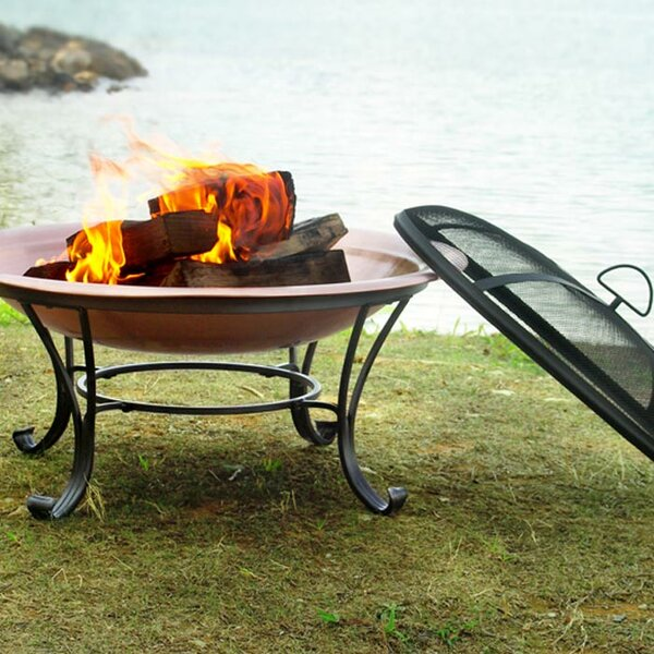 Steel Wood Burning Fire Pit by Corral