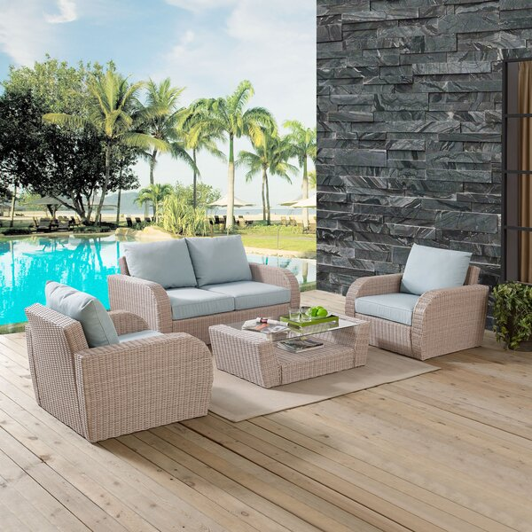 Boomer 4 Piece Sofa Set with Cushions by Highland Dunes