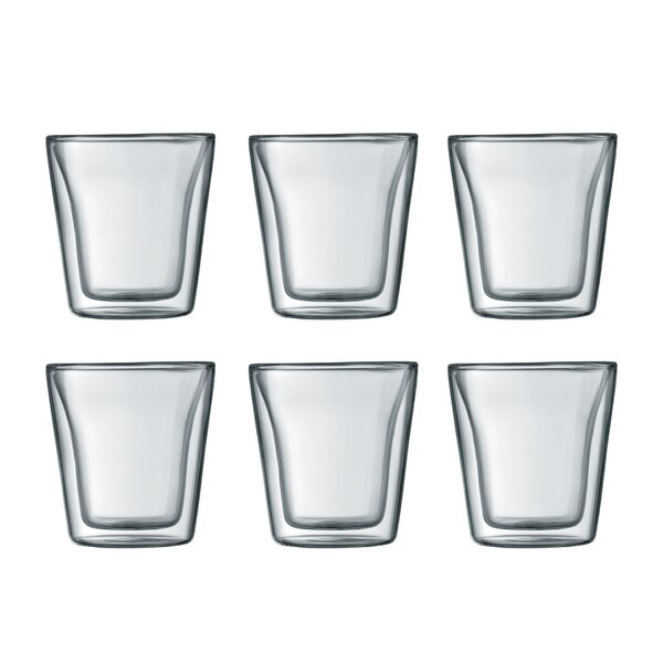 Canteen 3 oz. Glass Glassware Set (Set of 6) by Bodum