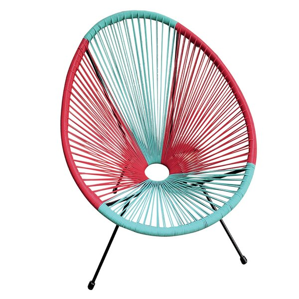 Zoubir Basket Patio Chair by Bungalow Rose