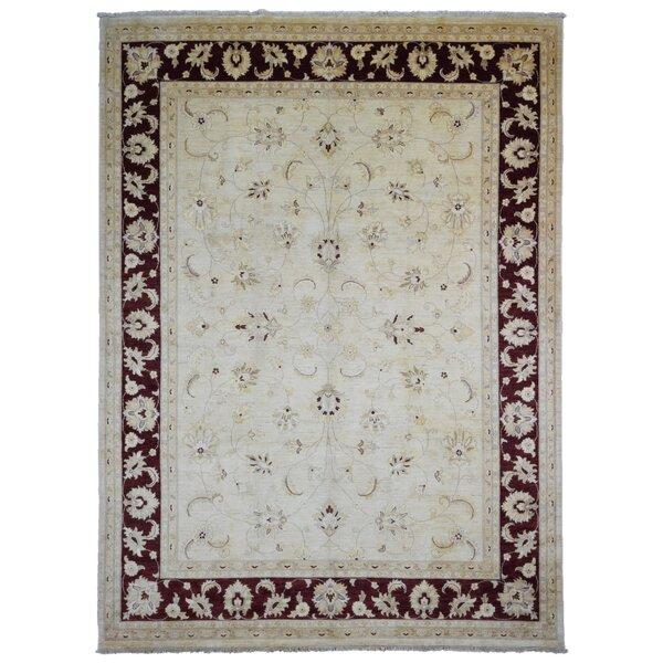 One-of-a-Kind Craven Pakistan Peshawar Oriental Hand-Woven Wool Beige/Dark Brown Area Rug by Isabelline