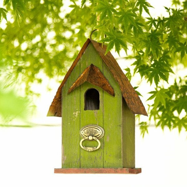 Wooden 10 in x 4.9 in x 5.7 in Birdhouse by Glitzhome