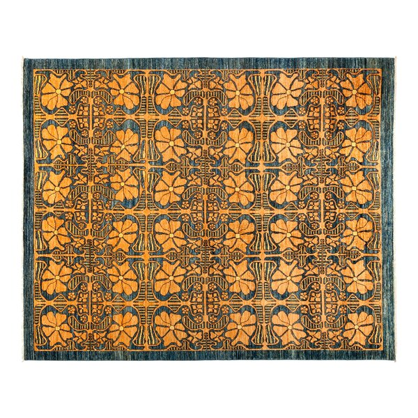 One-of-a-Kind Eclectic Hand-Knotted Yellow Area Rug by Darya Rugs