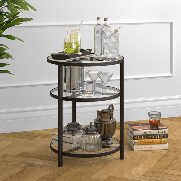 Goncalves Round Side End Table by Breakwater Bay