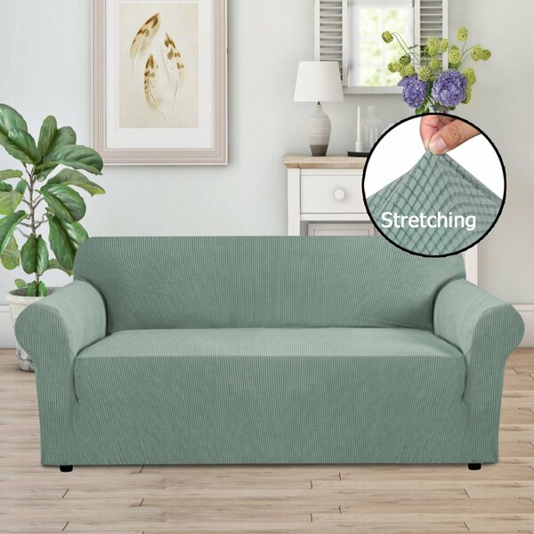 Review Stretch Box Cushion Sofa Slipcover