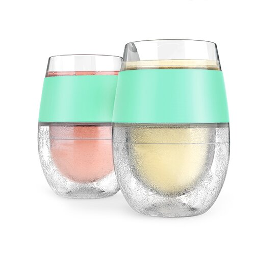 Freeze 9 oz. Plastic Double Wall Glass (Set of 2) by HOST