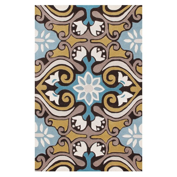 Kouerga Blue Area Rug by Bungalow Rose