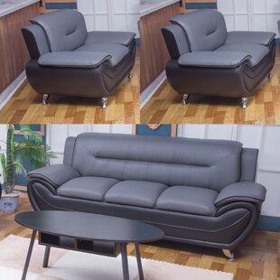 Gilliland 3 Piece Living Room Set by Orren Ellis