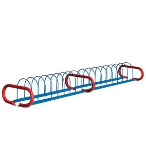 Traditional 16 Bike Triangular Freestanding Bike Rack by Anova