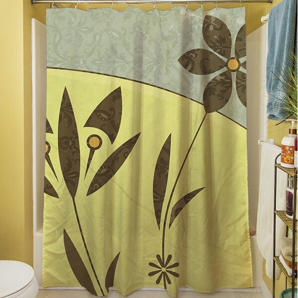 Graphic Garden Selene Shower Curtain by Manual Woodworkers & Weavers