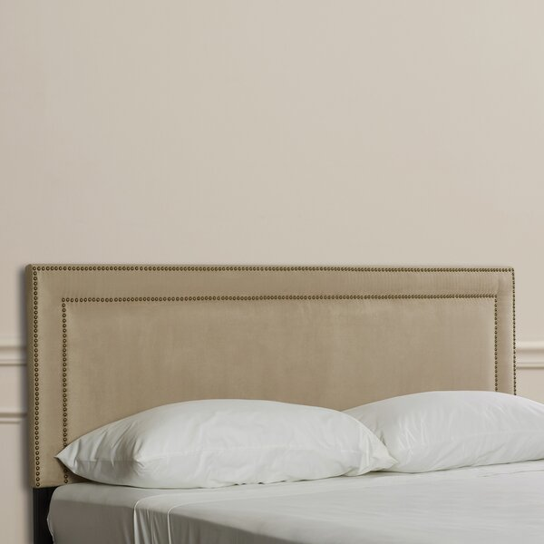 Doleman Nail Buttoned Upholstered Panel Headboard by Willa Arlo Interiors