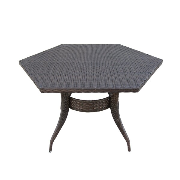 Shanika Wicker Dining Table by Brayden Studio