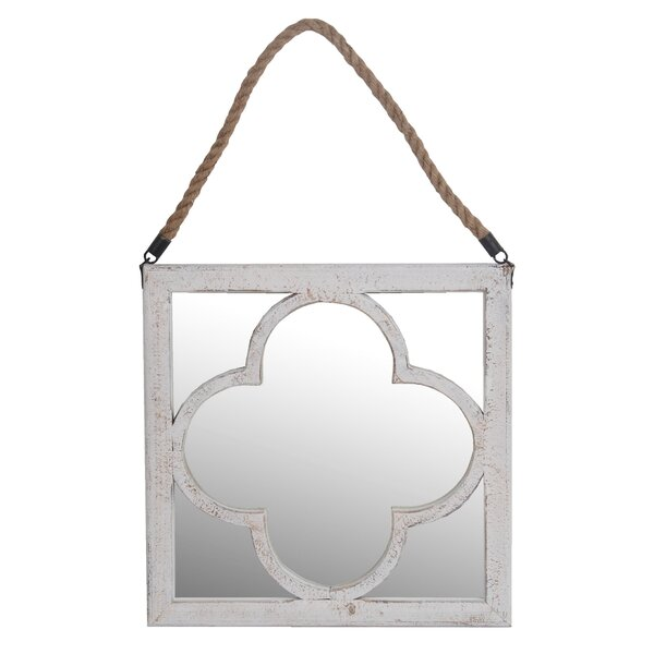 Tavon Washed Accent Mirror by Bungalow Rose