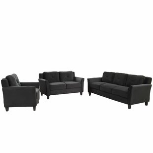 Emoree 3 Piece Living Room Set by Red Barrel Studio®