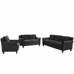 Nicasio 3 Piece Living Room Set by Winston Porter